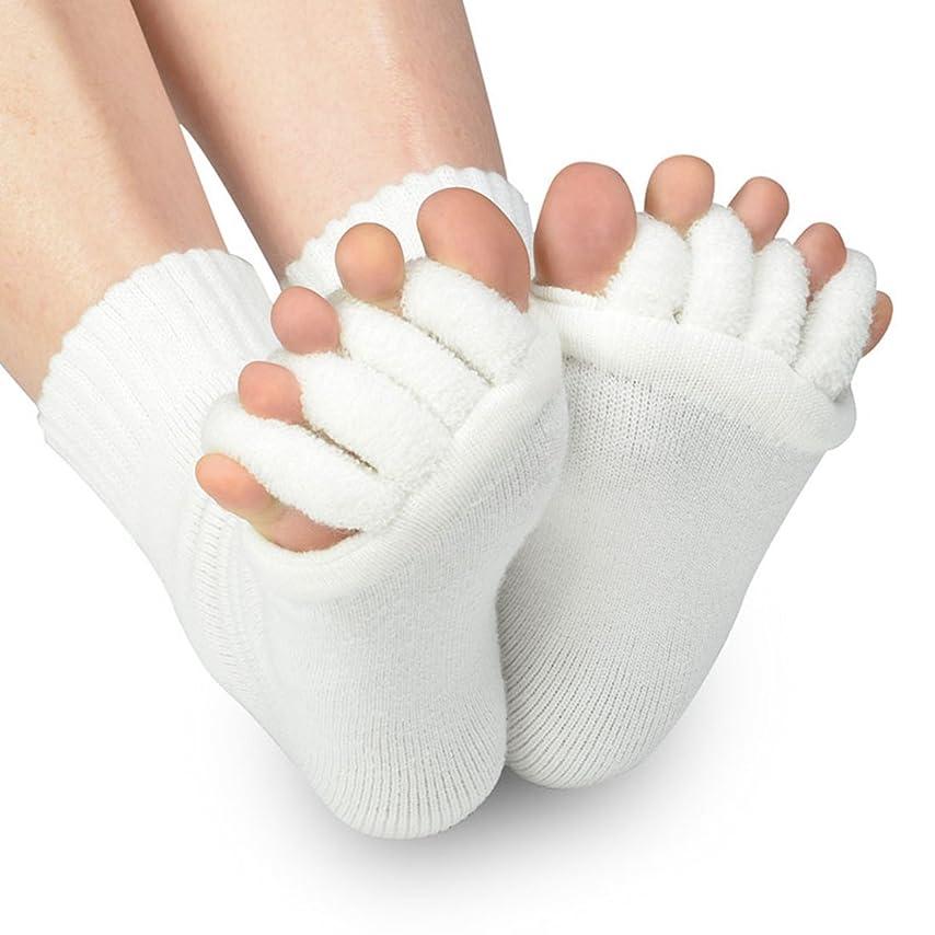 おいしい専門知識シンクB-PING 靴下 足指開き綿混5本指ハーフソックス 血行不良からくる足のむくみを即解消 足指開き 足指全開 男女兼用 履くだけで癒される 偏平足 対策 むくみ解消