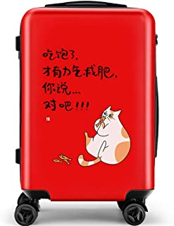 YCYHMY Suitcase ABS Hard case Adult Travel Suitcase Portable Suitcase Trolley case red 24 inch