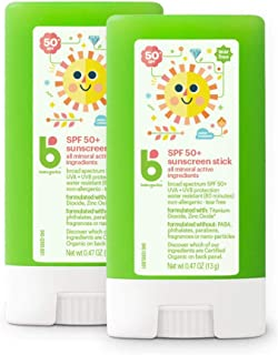 Sponsored Ad - Babyganics Travel Size Sunscreen Stick 50 SPF, 2 Pack, Packaging May Vary