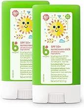 Babyganics Sunscreen Stick 50 SPF, .47oz, 2 Pack, Packaging May Vary