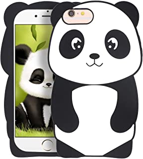 Megantree Cute iPhone 6 Plus case, iPhone 6s Plus case, Funny Kavaii 3D Cartoon Animals Panda Shaped Case, Soft Silicone Shockproof Full Protection Cover Case for iPhone 6+ / iPhone 6s+