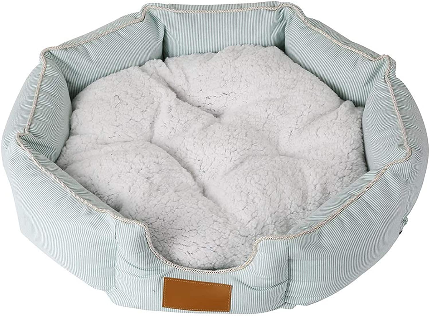 LSS Octagon Pet Bed Cat Dog Mat Puppy Cushion Oxford Cloth With Removable Cushion Winter (Size   70  18cm)