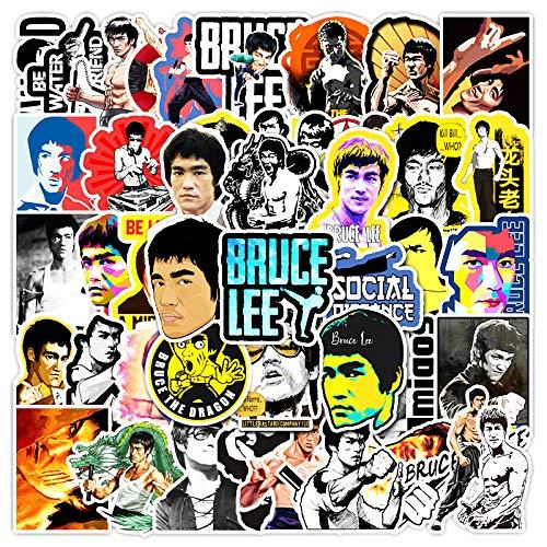 WUWEI Kung Fu Superstar Bruce Lee Graffiti Maleta Laptop Phone Case Guitar Stickers 51 Piezas
