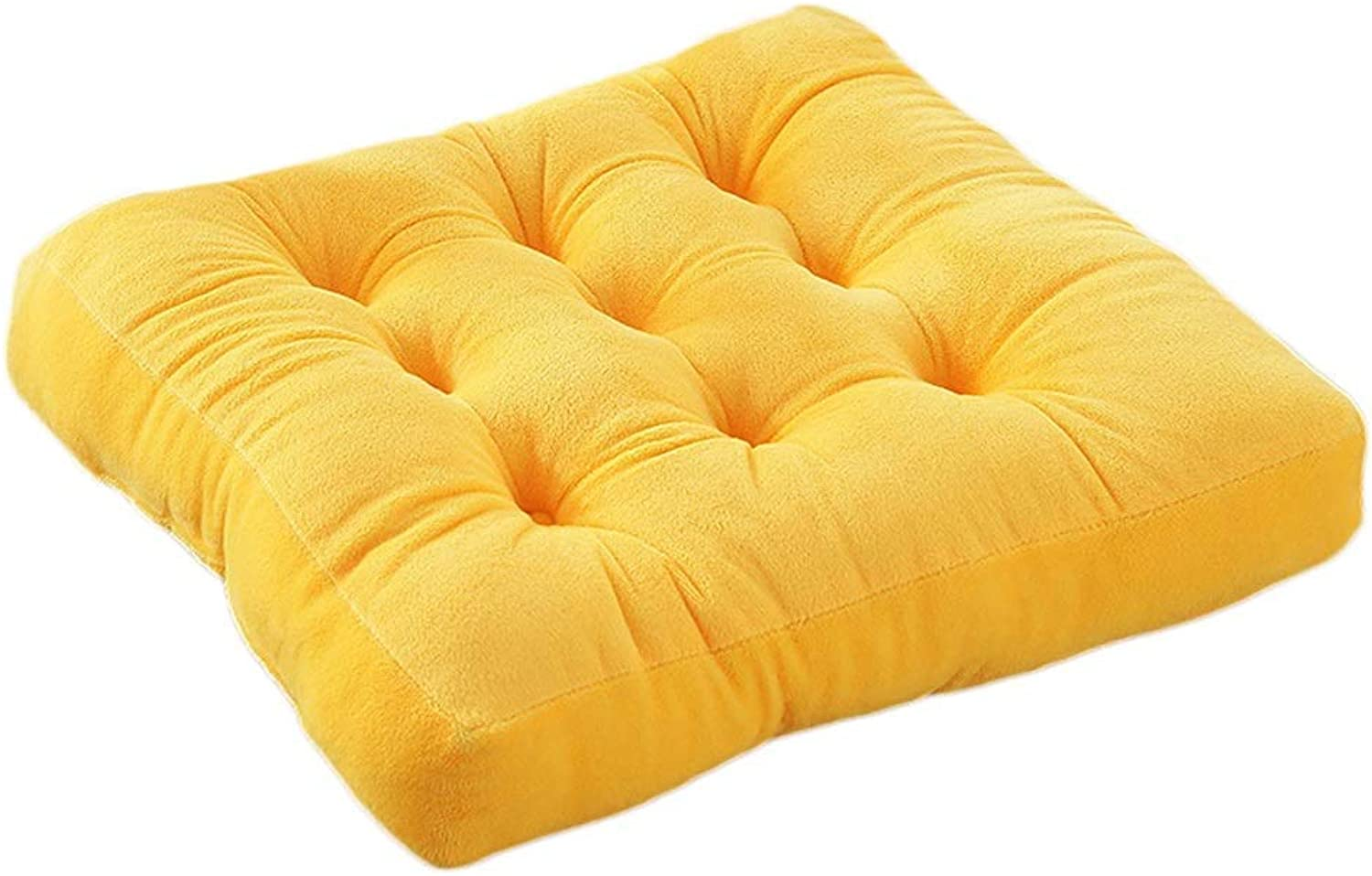 Seat Cushion Seat Cushion Yellow Cushion Pure color Simple Office Computer Chair Thicken Sofa Lumbar Cushion Four Seasons Available Chair Pad (Size   38  38  10cm)