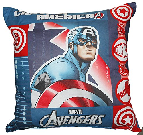 Coussin d'ameublement 40 x 40 cm pour chambre originale Avengers Marvel par Bassetti Hulk Ironman Captain America Civil War (CAPTAIN AMERICA)