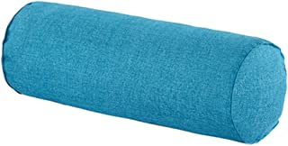 16x6 Inch Car Round Cervical Neck Pillow Semi-Roll Pillow With Washable Organic Cotton Cover (blue)