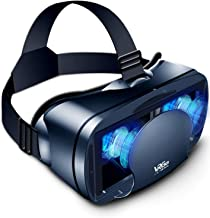 3D Virtual Reality Glasses,VR Headset Full Screen Visual Wide-Angle Soft & Comfortable New 3D VR Glasses for 5-7in Smartph...