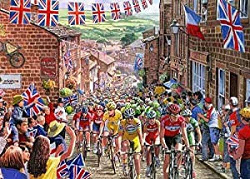 TTbaoz Puzzle per Adulti 1000 PezziArt Decoration Paesaggio Poster Ciclismo ConcorsoFai da Te Puzzle Creativo