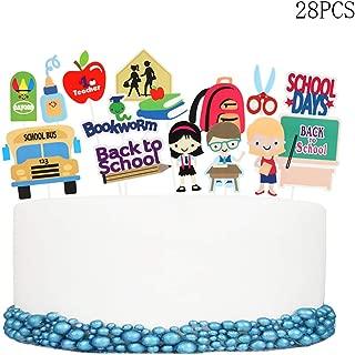 28pcs Back to School Cupcake Topper School season of School Welcome Party Decoration School Activities Teacher Gift Classroom Decor