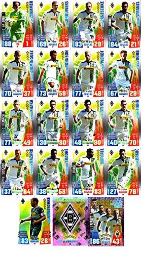Match Attax Bundesliga 2015 2016 - Karten-Set Borussia Mönchengladbach Cap Viererkette Clubkarte - Deutsch