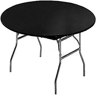غطاء طاولة بلاستيكي بحواف مرنة سوداء سادة لمستلزمات الحفلات من كريتف كونفيرتنج، 152.4 سم