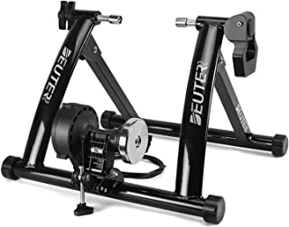 Deuter Bike Trainer, Magnetic Bicycle Stationary Stand for Indoor Exercise Riding, Portable, Quick Release Skewer & Front ...