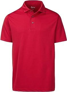 Oxford America Houston Short Sleeve Double Knit Polo Cardinal, Small