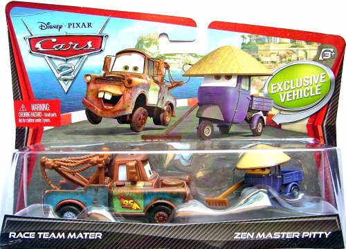 Cars 2 - 2 véhicules Martin + Mécano Maitre Zen