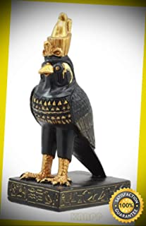 KARPP Ancient Egyptian God of The Sky Horus Falcon Miniature Figurine Heru Statue Perfect Indoor Collectible Figurines