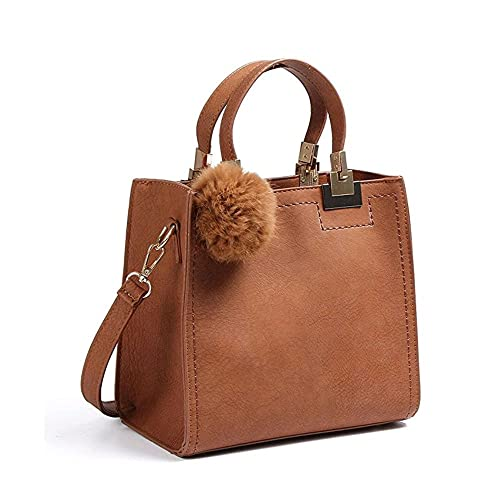 34fdc3606d26 Women PU Leather Pendant Top Handle Bag Tote Shoulder Bags Handbags Purse  Small Crossbody Bag