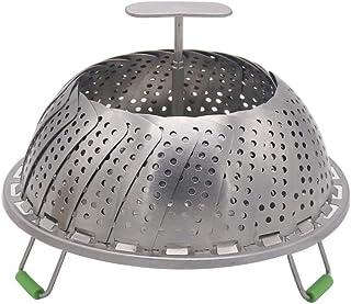 Cesta de acero inoxidable para vaporizador de verduras, ajustable, plegable, para olla a presión instantánea, se ajusta a varios tamaños de ollas para cocinar verduras y alimentos Upgrade 9'
