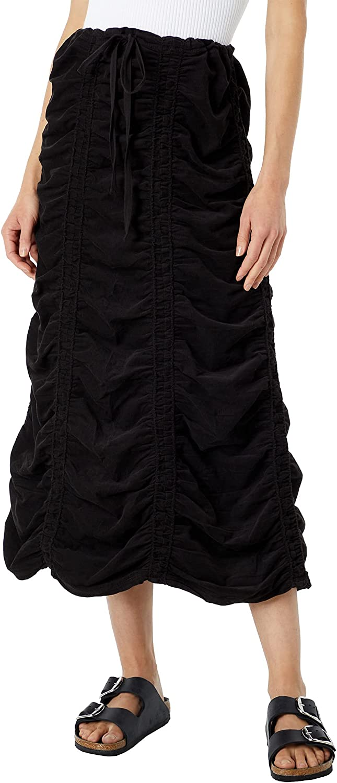 XCVI Wearables Women's Corduroy Shirred Panel Skirt-Soft Cord