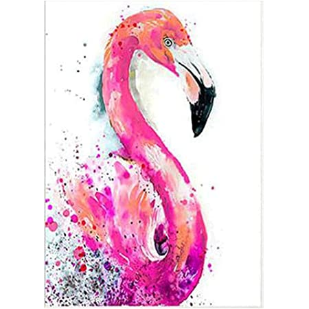 Flamingo//Parrot 5d DIY Diamant Broderie Peinture kit de point de croix D/écoration murale Toile 6422# Taille unique
