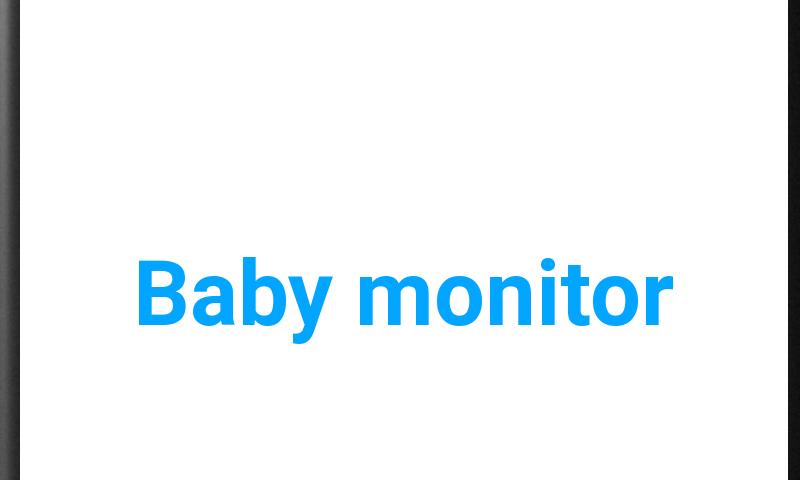 WiFi Baby monitor