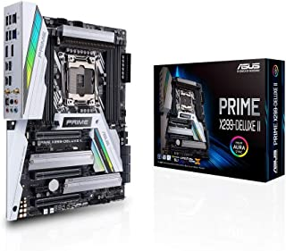 ASUS Prime X299-Deluxe II- Placa Base ATX para CPU Intel Serie X LGA 2066 con disipador M.2, DDR4 4000 MHz, Wi-Fi 802.11ad, Dos M.2, U.2, Intel VROC, SATA 6 GB/s, USB 3.1 Gen. 2 en el Panel Frontal