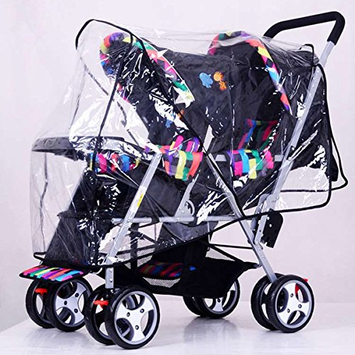 Generic Clear Stroller Rain Cover Weather Pram Baby Infant Double Pushchair Wind Shield Raincoat