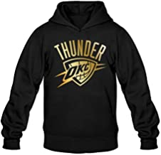 Oklahoma City Thunder Gold Collection Hoodies Sweatshirt Black For Men