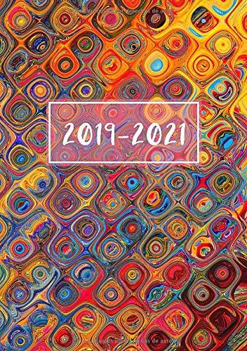 2019 - 2021: Comienza con semana 40 | Octubre 2019 - Septiembre 2021 | Vista Semanal | 1 Semana en 1 Página | 24 Meses Calendario Planificador | A5 Planner | Tapa Blanda Colorida