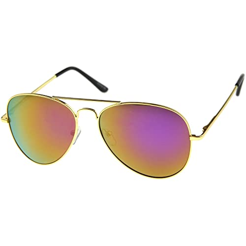 zeroUV - Premium Full Mirrored Aviator Sunglasses w Flash Mirror Lens 621b38e0ef