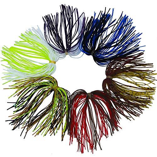 NO LOGO LIBAO-Lures, 10pcs 13.6cm Colore Misto Pesca in Gomma giga gonne 50 Fili in Silicone Filo Gonna con Anello in Gomma Fly Tying