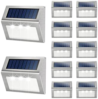Solar Power 3LED Garden Yard Stair Deck Pathway Street Security Lamp Night Light