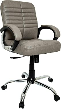 OCTOPHIN™ O29 Mid Back Home Office Chair/Revolving Chair/Desk Chair/Director Chair (Grey) (24 Months Warranty)