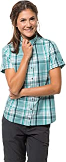 Jack Wolfskin Women's Maroni River Women's Organic Cotton Short Sleeve Plaid