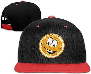 Oopp Jfhg Hip Hop Baseball Caps Orange Slices Smile Trucker Flat Hats for Boys Girls