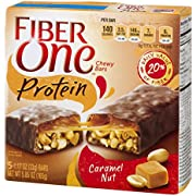 Fiber One Protein Bar, Caramel Nut Chewy Bars, 5 Fiber Bars, 5.85 oz