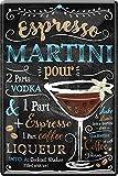 Blechschilder Cocktail Rezept – Alkohol Deko Metallschild