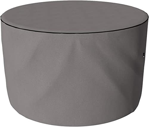 SORARA Housse de Protection Hydrofuge pour Salon de Jardin Table Ronde et Chaise | Gris | Ø 153 x 90 cm
