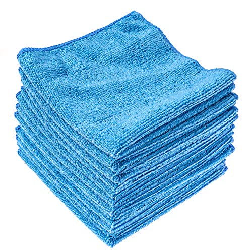 """Dry Rite's Best Magic Microfiber Cloth Lite   Value Series Cleaning Towels for Home, Auto, Chrome, Kitchen, Bath, TV, Glass, Stainless Steel   No Scratch, Streak Free, Use Wet or Dry   12"""" x 12"""""""