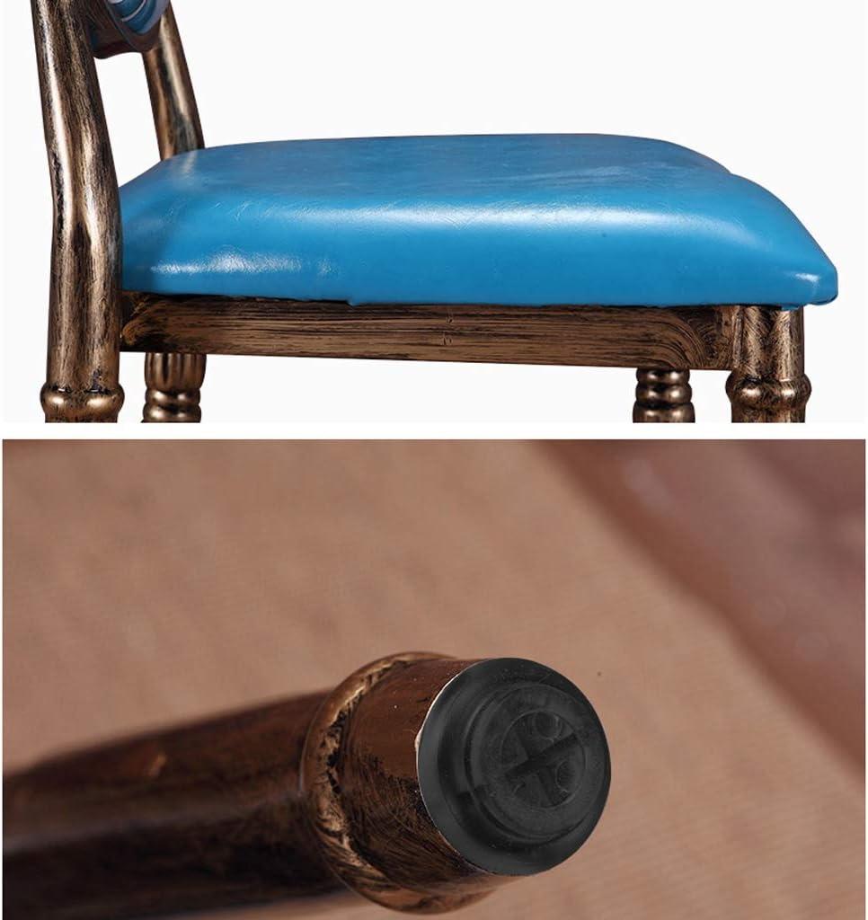 SLL- Chaise de Salle, Chaise de Bureau Simple, créative Dossier, Chaise Loisirs, Maison Adulte Chaise de Salle Moderne (Color : Blue-C) Blue-b