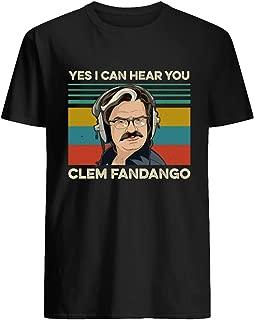Yes I Can Hear You Clem Fandango Shirt Black