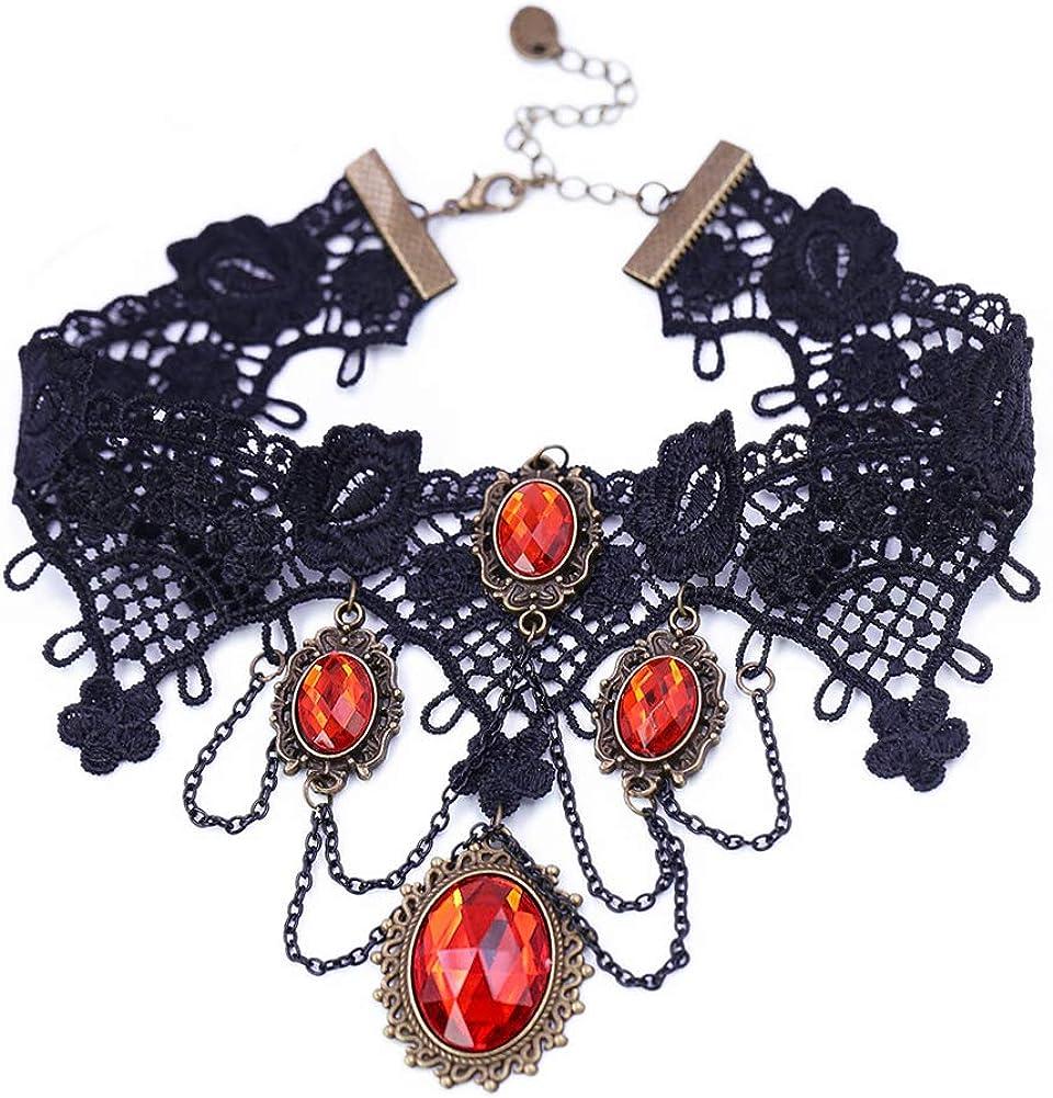 ETERNITY J. Vintage Princess Lolita Lace Victorian Necklace Bracelet Edwardian Vampire Gothic Choker Pendant
