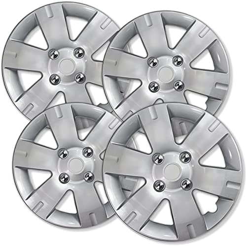 discount 15 inch Hubcaps Best for 2006-2018 Ford Focus - (Set of 4) Wheel Covers wholesale 15in Hub Caps Silver Rim Cover - Car Accessories for 15 inch Wheels popular - Snap On Hubcap, Auto Tire Replacement Exterior Cap outlet sale
