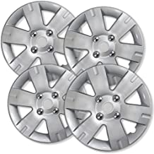 OxGord 15 inch Hubcaps Best for 2006-2018 Ford Focus - (Set of 4) Wheel Covers 15in Hub Caps Silver Rim Cover - Car Accessories for 15 inch Wheels - Snap On Hubcap, Auto Tire Replacement Exterior Cap
