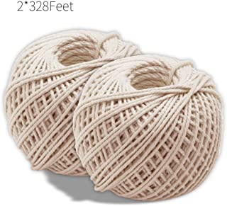 Cotton Cooking Twine 656 Feet Food Safe Kitchen Twine String for Trussing and Tying Poultry and Meat Making Sausage,Good for Arts Crafts