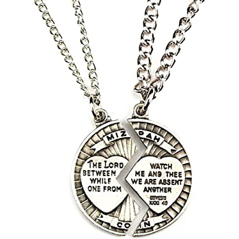 Mizpah Necklace Set Sweetheart Gift Lord Watch Between Me and Thee Mizpah Coin Genesis