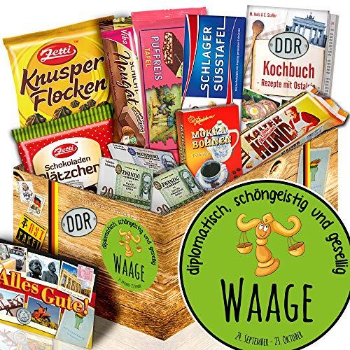 Sternzeichen Waage - Waage Geschenk Junge - DDR Schokoladen Set