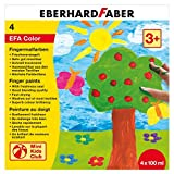 Eberhard Faber 578804 - Fingerfarbe 4 x 100 ml in Schachtel