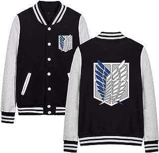 Attack on Titan Levi Baseball Jacket,Cosplay Cotton Autumn/Winter Hoodie Coat