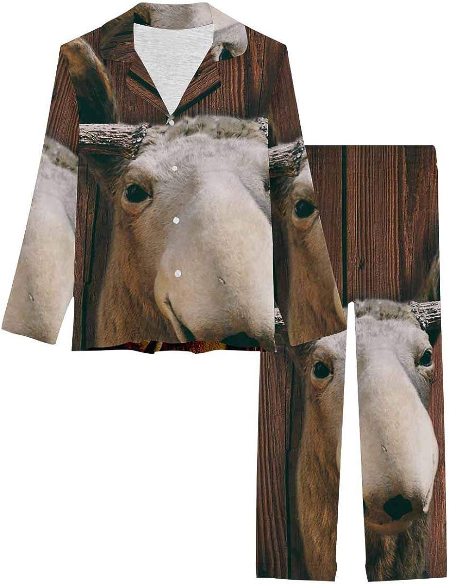Sale Ranking TOP15 item InterestPrint Button Down Nightwear Set Pajamas Soft Loungewear