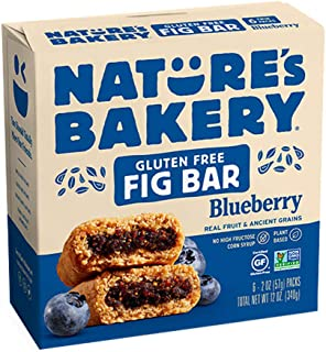 Nature's Bakery Fig Bar, Gluten Free Blueberry, 2oz  6 ct